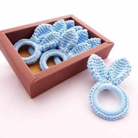 Porta guardanapo de crochê inspirado na páscoa