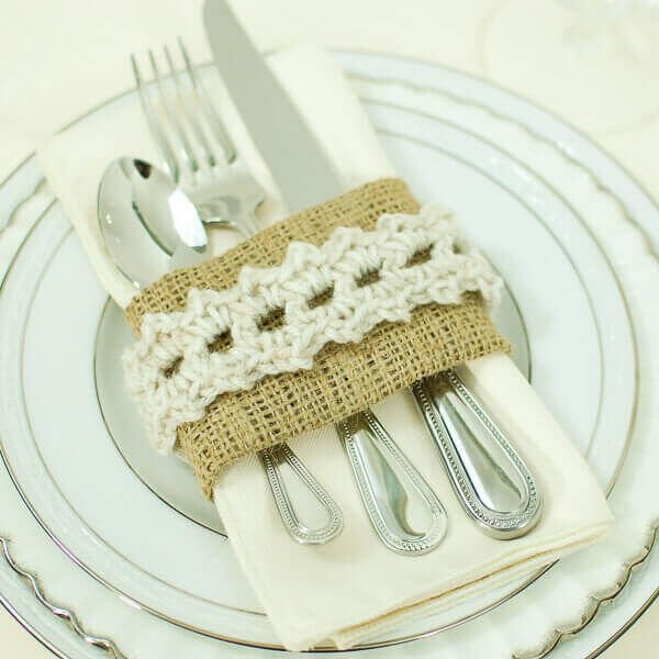 Porta guardanapo de crochê