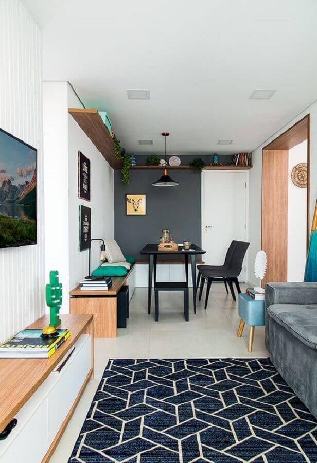 porta para sala pequena com sala de jantar integrada Foto Minha Casa