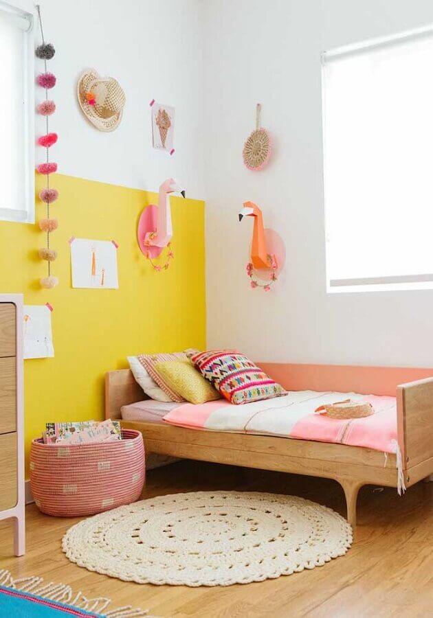 quarto de menina amarelo Foto Pinterest