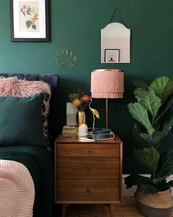 combinação de verde e rosa é linda