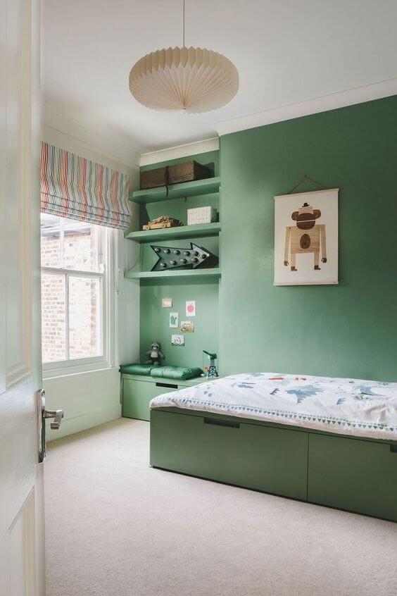 quarto de menino verde pode ser a cara dele