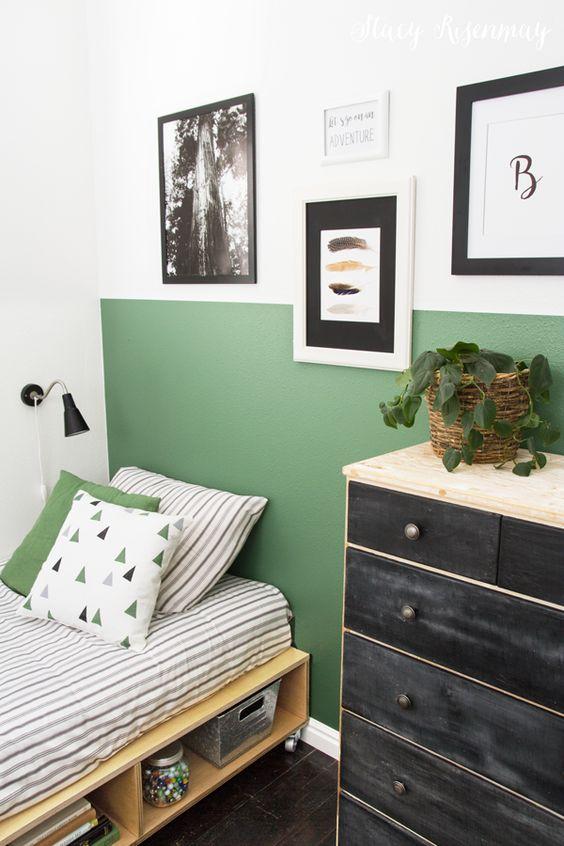 Quarto verde infantil