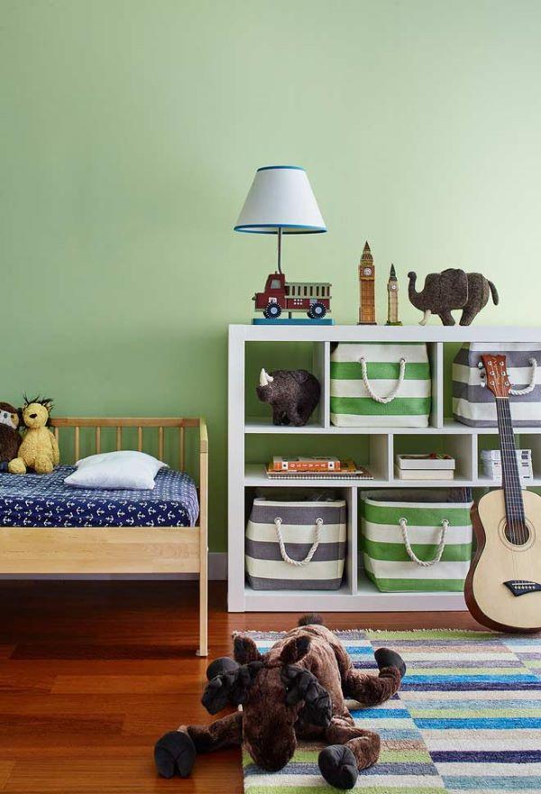 Quarto verde para crianças