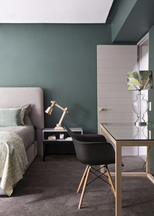 Quarto verde e moderno