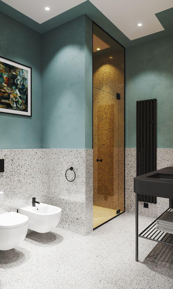 Revestimento de granilite para banheiro
