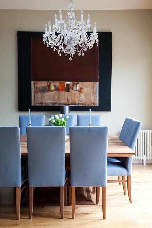 sala de jantar de casas de luxo decorada com lustre de cristal Foto Pinterest