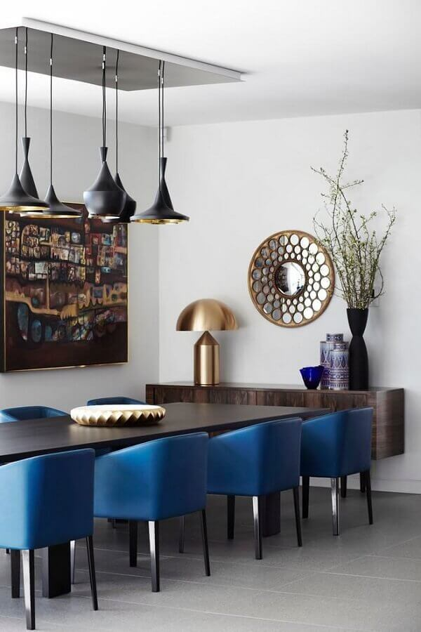 sala de jantar decorada para casas de luxo Foto Assetproject
