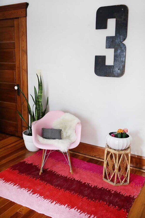 tapete de crochê para porta da sala Foto Deavita