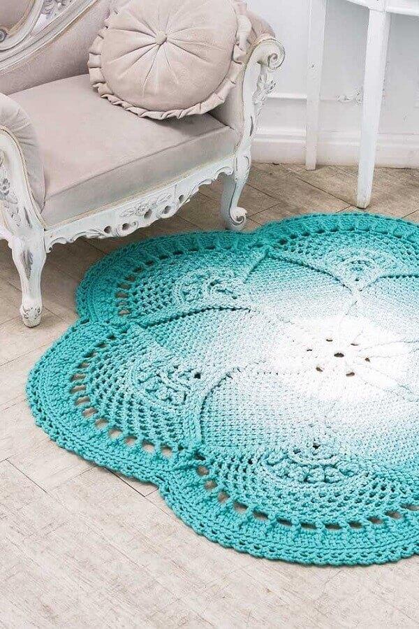 tapete de crochê para sala Foto Ideias Decor