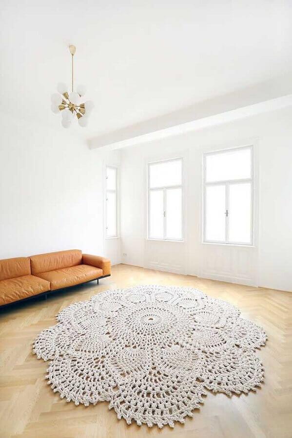 tapete de crochê para sala Foto Pinterest