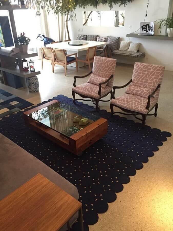 tapete de crochê para sala grande Foto Marcia Sartori