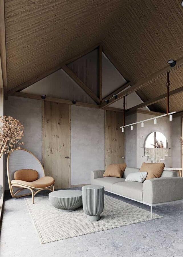 tapete de crochê para sala grande com decoração estilo escandinavo Foto Behance