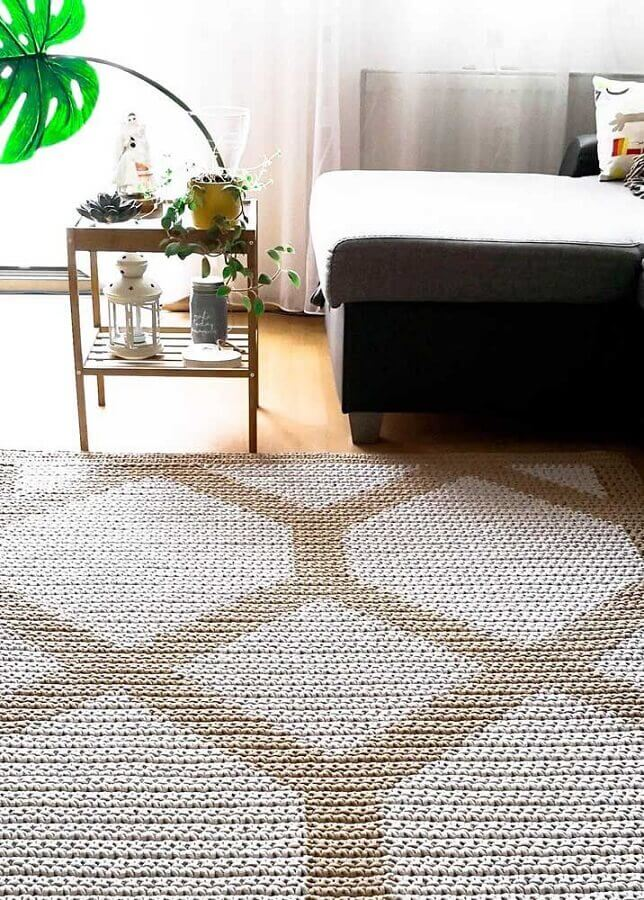 tapete para sala de crochê Foto Pinterest