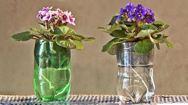 Aprenda como fazer vaso autoirrigável de garrafa pet