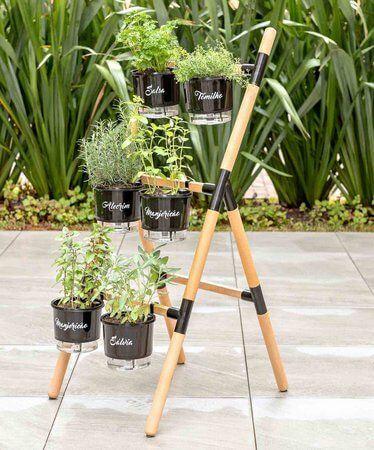 Vaso autoirrigável para jardim