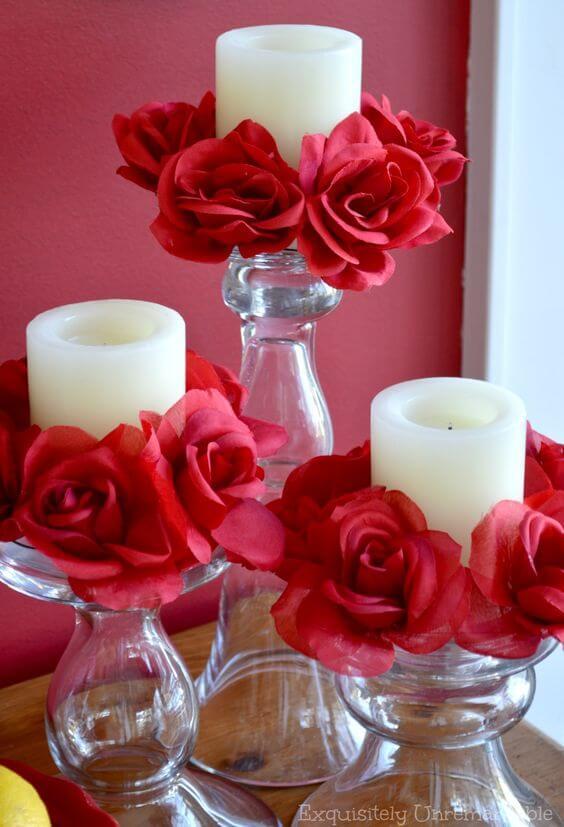 Ideias para dia dos namorados com decoração de rosas