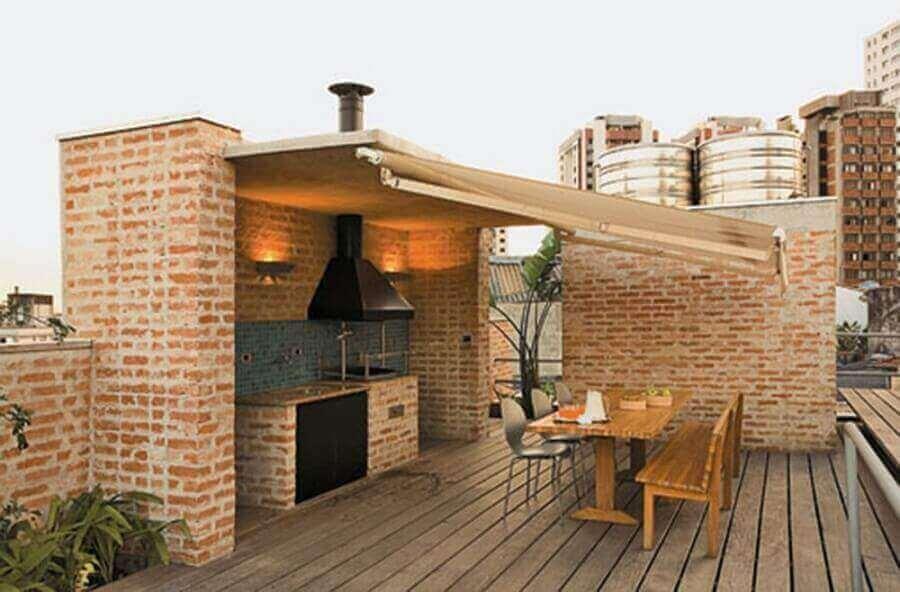área gourmet rústica simples Foto Francisco Barros