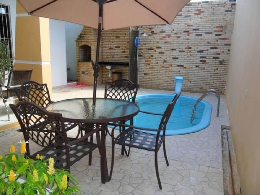 área gourmet rústica simples com piscina Foto Decoração e Arte