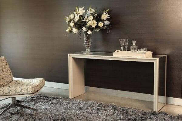 Aparador para sala espelhado