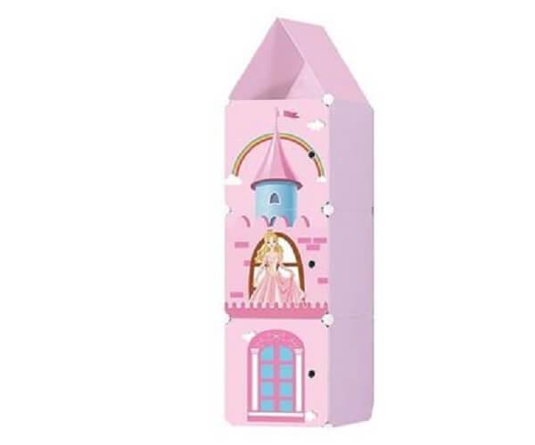 Armário organizador e sapateira infantil com design das Princesas