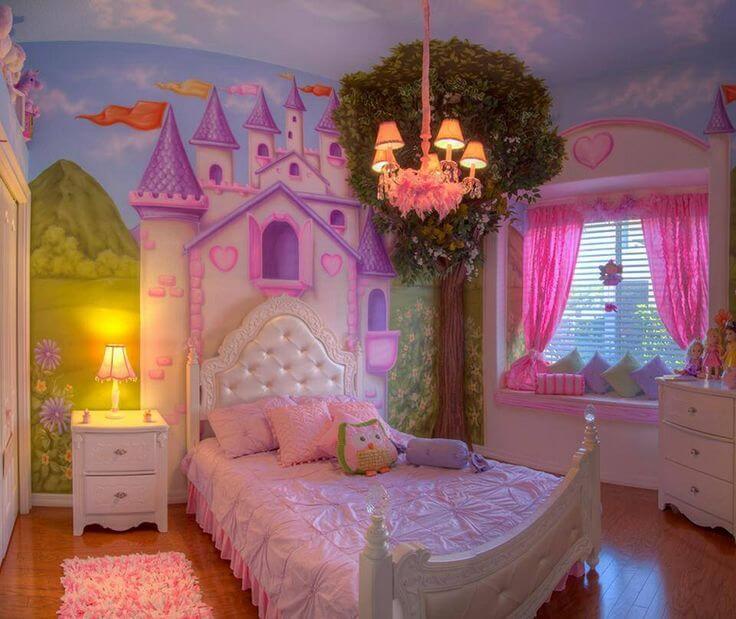 As crianças adoram o modelo de cama infantil princesa