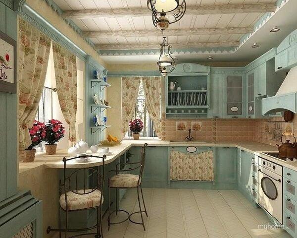 Cadeiras de ferro para cozinha com estilo retrô