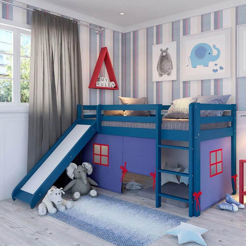 Modelo de cama com escorregador