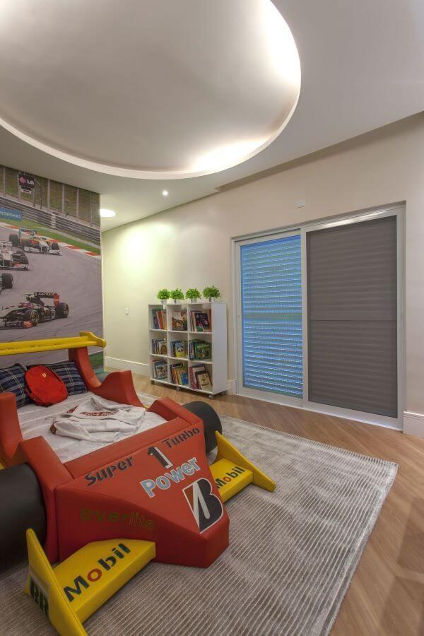 Cama infantil carro para quarto de menino