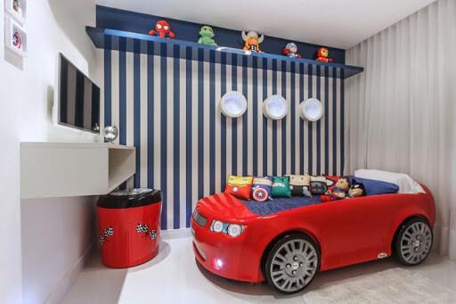 Cama infantil carros decore o quarto de menino