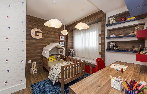 Cama infantil casinha estilo cabana para quarto de menino