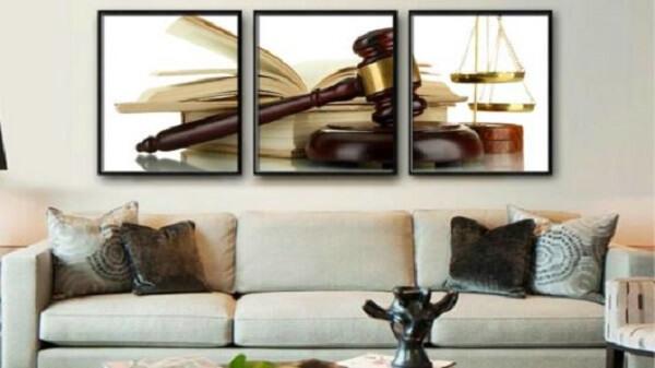 Decore a recepção com quadros para escritório advocacia