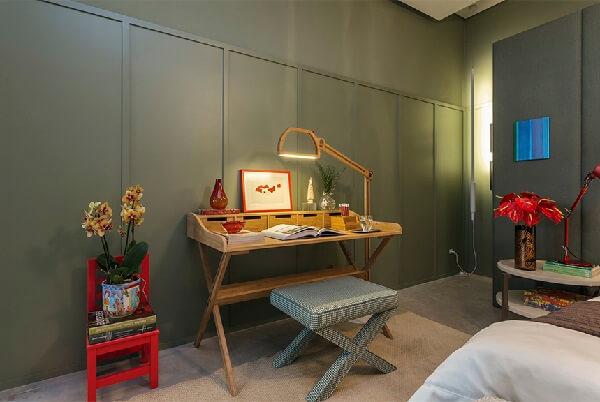 Decore o quarto moderno com mobílias ousadas