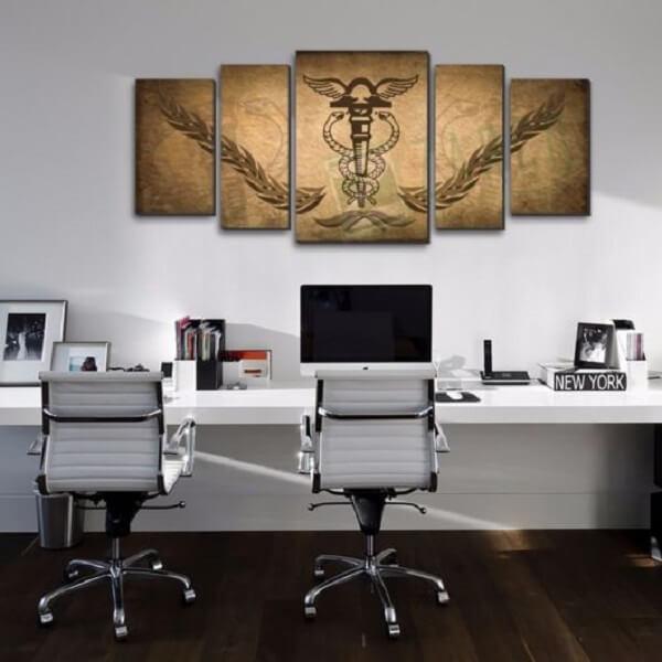 Linda composição de quadros para escritório advocacia
