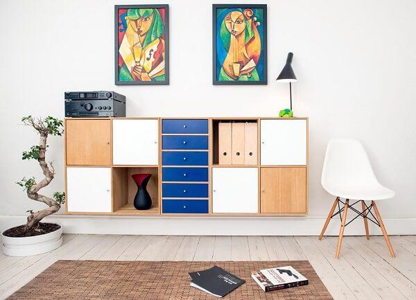 Móveis para escritório armário colorido suspenso
