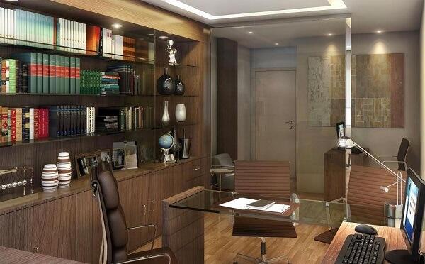 Móveis para escritório armário marrom