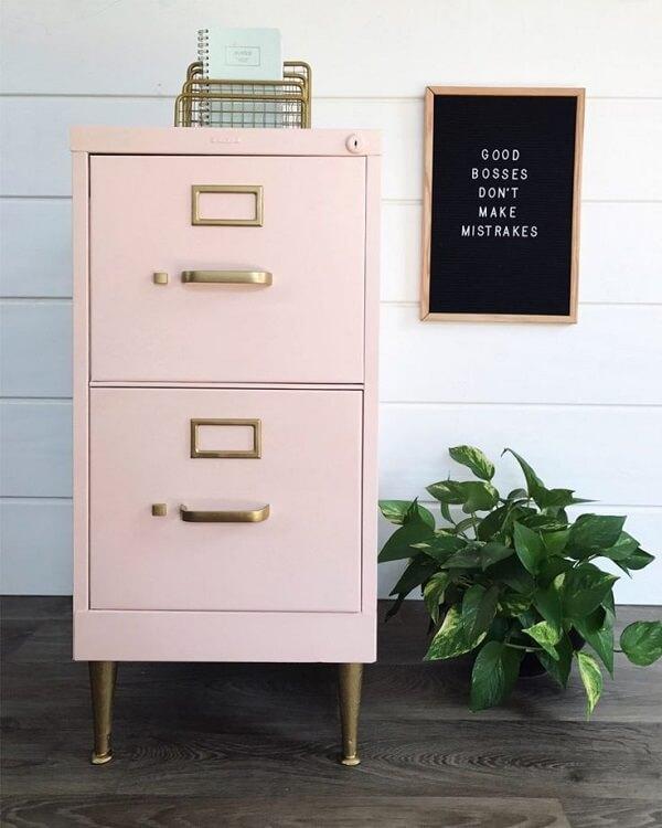 Móveis para escritório arquivo de aço rosa