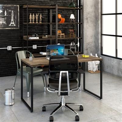 Móveis para escritório tons neutros