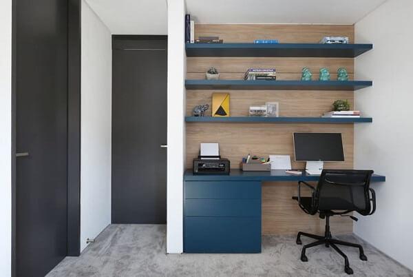 Móveis para escritório colorido