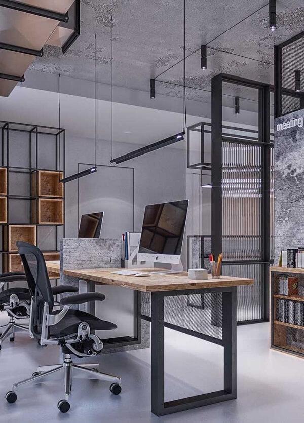 Móveis para escritório estilo industrial