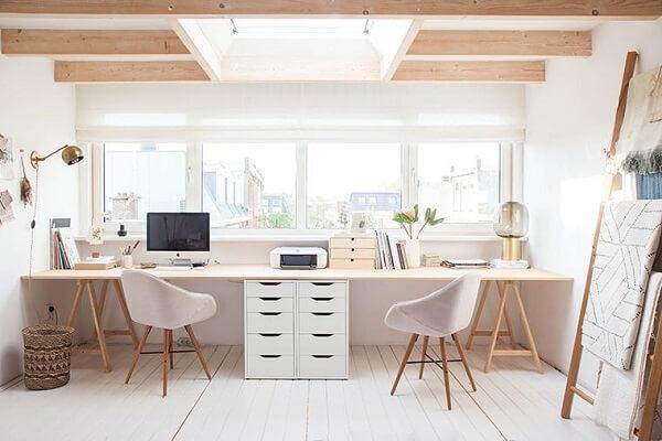 Móveis para escritório home office duplo