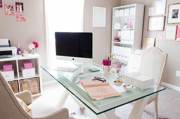 Móveis para escritório mesa de vidro