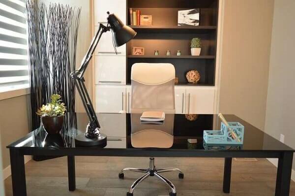 Móveis para escritório mesa preta