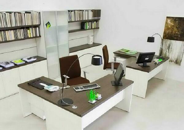 Móveis para escritório mesas em l