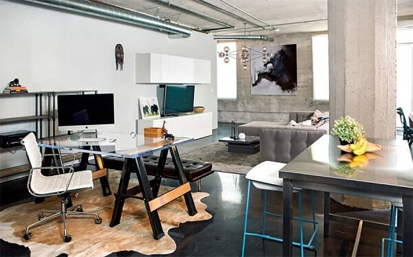 Móveis para escritório mesa de vidro cavalete