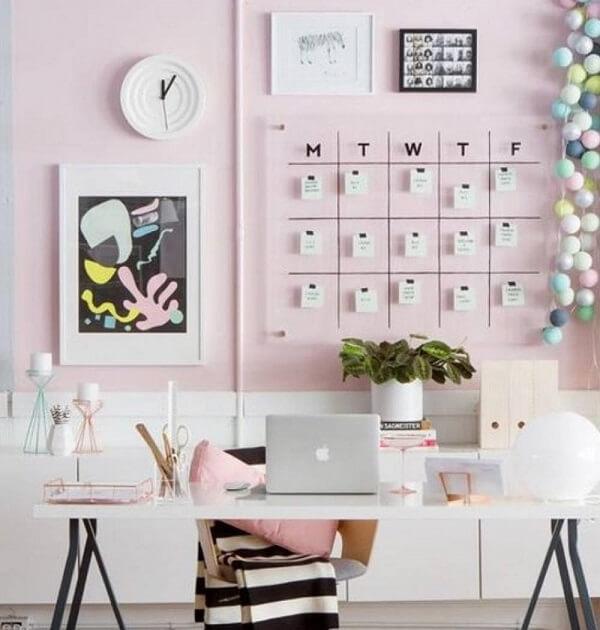 Móveis para escritório mesa cavalete branca