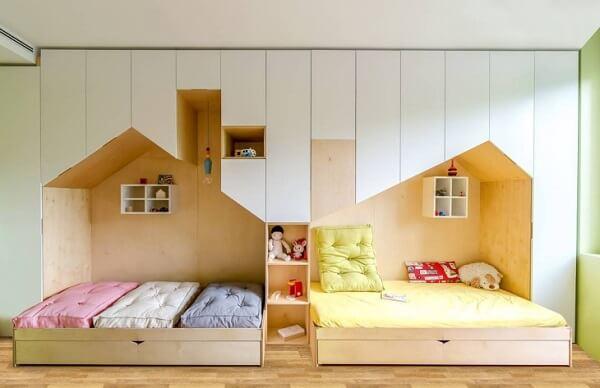 Modelo de cama infantil com gavetas feitas sob medida