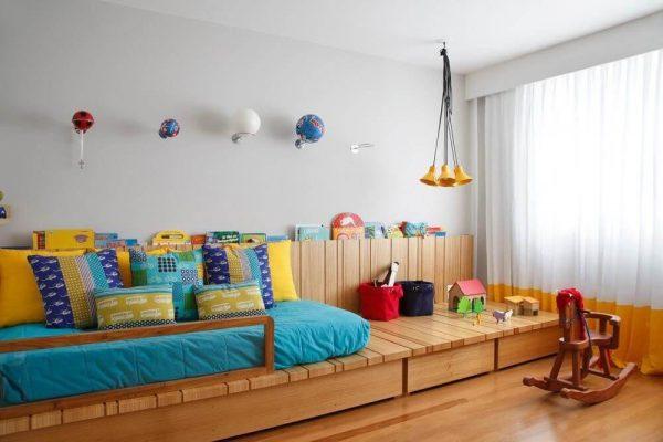 Modelo de cama infantil com gavetas