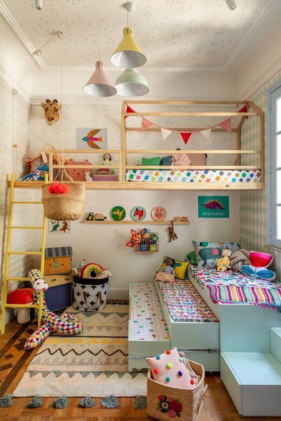 Modelo de cama infantil para quarto compartilhado