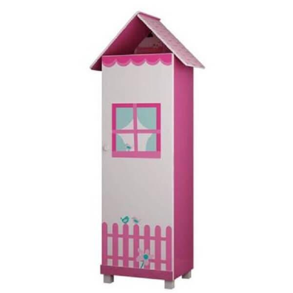 Modelo de sapateira infantil estilo casinha pink